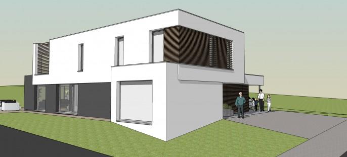 Habitation toiture plate à Honville (Fauvillers)