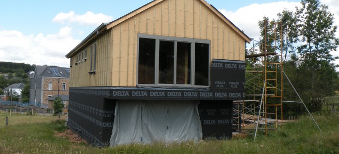 Maison ossature bois à Transinne